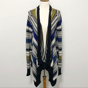 Fate by LFD Open-Front Draped Cardigan